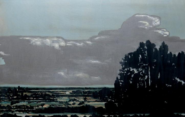 CAMINO A PARRAL 2000 AÑOS DESPUES oleo tela, 70 x 110 cms. 2011-14