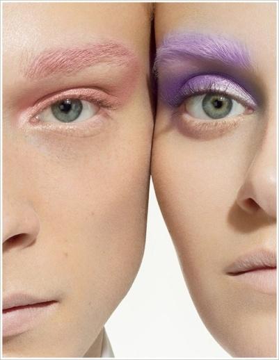 Cejas de colores