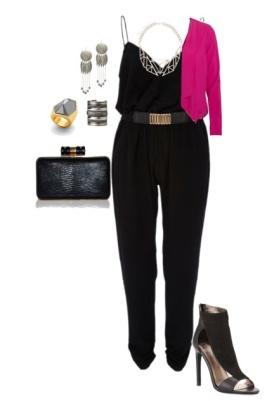 enterito negro con accesorios